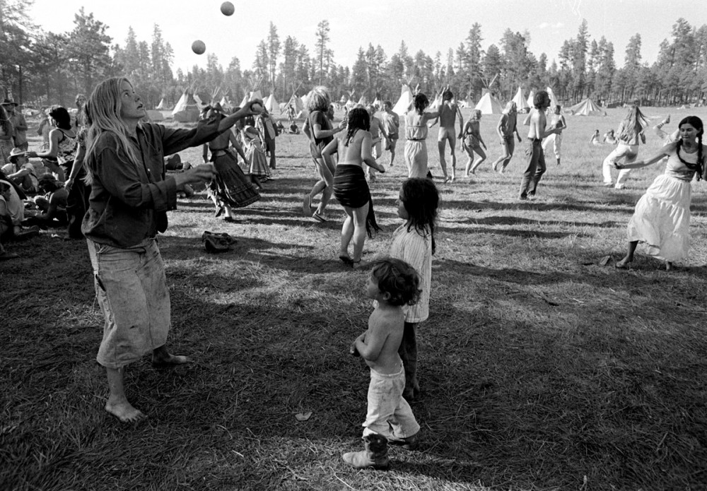 Juggling, The Rainbow Gathering, Alpine Arizona, July 1979